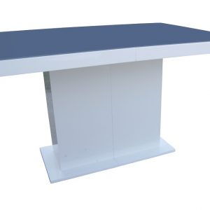 Stół Lorenz biały połysk lacobel stal